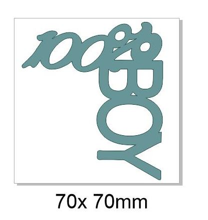 100% Boy 70x70 mm pack of 5,