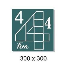 Number 4 multi photo frame ,300 x 300 mm sold individually