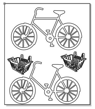 Bicycles 2- with baskets for flowers vintage 100 x 120 min buy 3