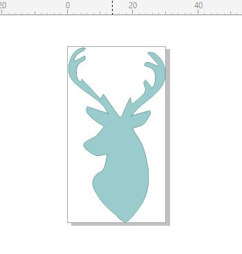 Deer head side profile  cards and scrapbooks and Invitations 50