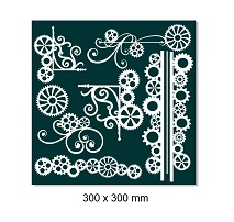 Cogs and Cog Borders ,flourishes   12 x 12,  sold individually