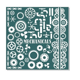 Mechanicals, Cogs, Pipes, propellor,12 x 12 sheet