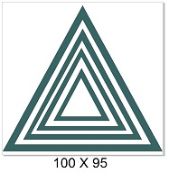 Nested triangles 100 x 90mm Min buy 3