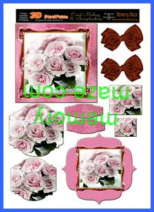 OCT 13 pink rose bunch