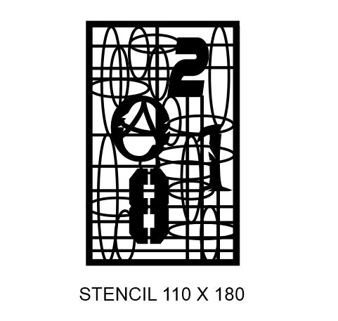 STENCIL GRID 110 X 180.stencil multiple sizes available see drop