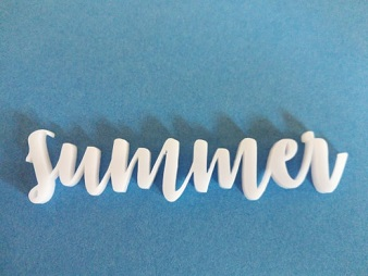 Acrylic words Summer  23mm high 76 long min buy3,