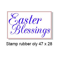 Easter Blessings 47 x 28mm  Rubber stamp, rubber only,Acrylic bl