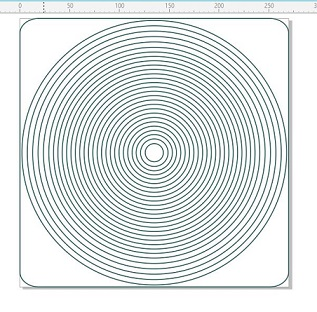 Nested Circles  5mm wide x26 -