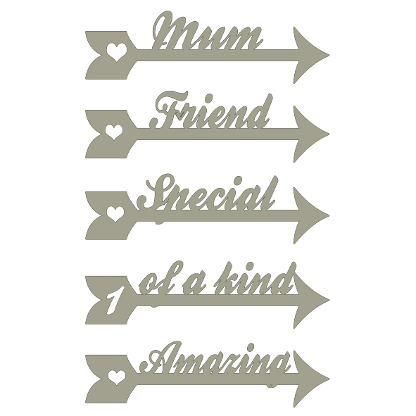 arrow words mum friend,special,amazing,1 of a kind min buy 3 100