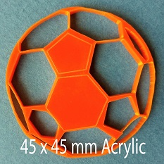 Ball, Acrylic Sports Ball,Acrylic,40x40mm,Pack of 4