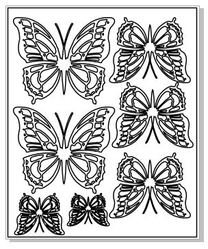 Beauty butterflies 100 x 120 sheet