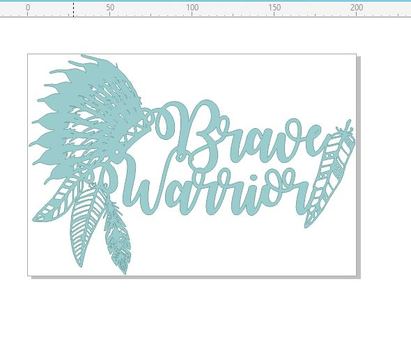 Brave warrior feathers chipboard  200 x 135.mm min buy 3