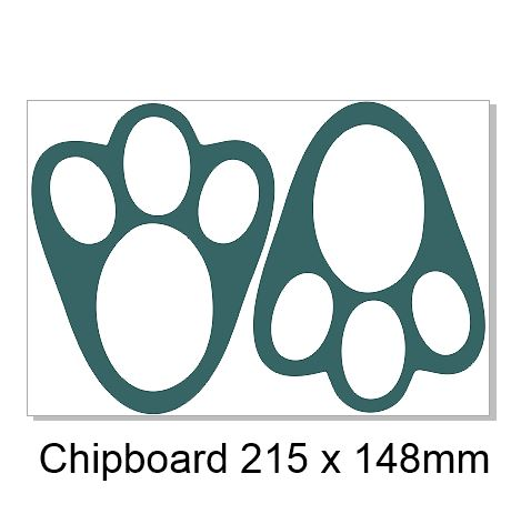 Easter Bunny Paws  215 x 148mm Min Buy 3
