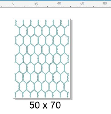 Chicken wire stamp 50 x 70 RUBBER ONLY