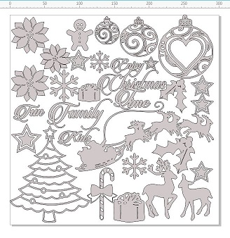 Christmas 12 x 12  heaps of  embellishments