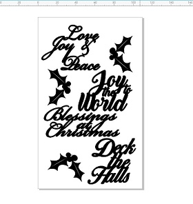Christmas greetings and holly 110 x 180mm  min buy 3