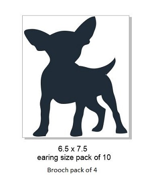 Chihuahua,Brooch or earring size acrylics see drop down box for