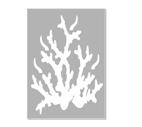 Seaweed, coral 3 stencil   Min buy 3,Australian made