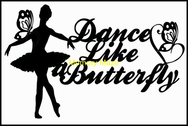 Dance like a butterfly 120 x 82 mm min buy 3 also available as b