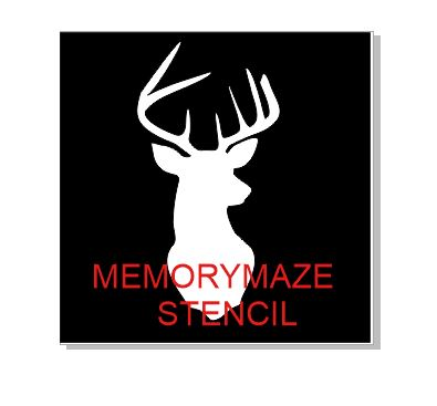 Deer antlers stencil  multiple sizes available see drop down box