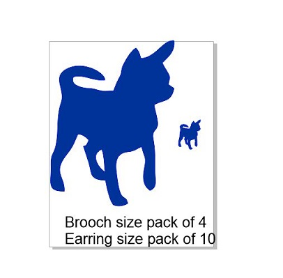 Dog, Brooch or earring size acrylics see drop down box for