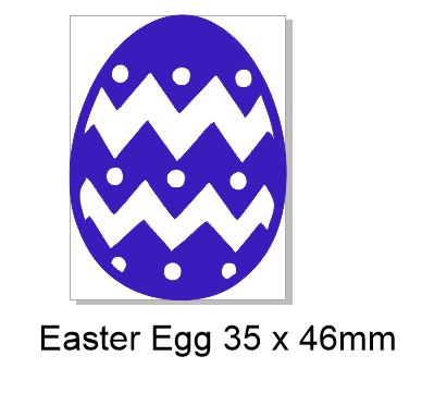 Easter Egg Acrylic 35 x 46 mm Pack of 4