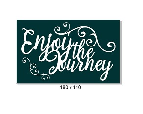 Enjoy the journey, flourishes 110 x 140mm, Min buy 3.