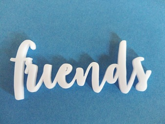 Acrylic word Friends min buy3   75x30mm
