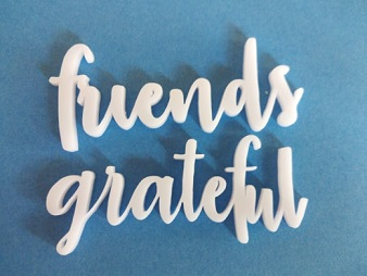 Acrylic word friends grateful min buy 3 -74 x 31mm