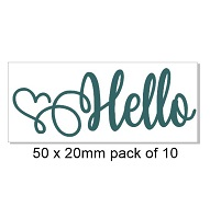 Hello heart , card making, pack of 10 Bulk