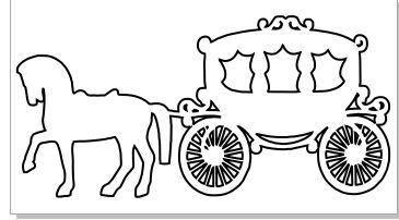 Horse and carriage 2 PACK  125 x 70 MIN BUY 3