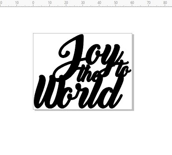 joy to the world  Christmas 60 x 46 mm pack 10