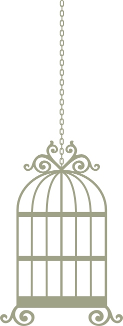 Bird Cage Wrought Iron 70mm x 186mm  on chain vintage min buy 3