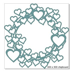 lots of hearts frame 300 x 300