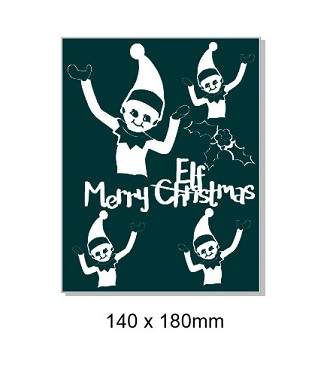 Merry Christmas elfmas. 140 x 180mm min buy 3