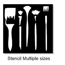 Paint brush Stencil 200 x 200mm