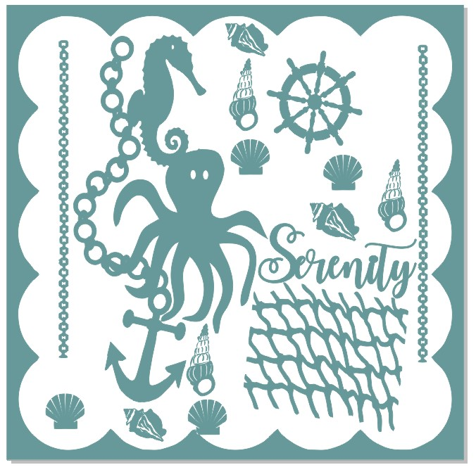 Seaside,serenity  ,underwater,beach,scuba, 12 x 12 ,Chipboard ,A