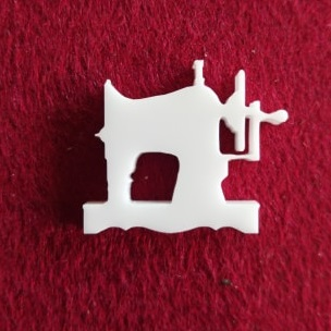 Sewing Machine  Brooch or earring size acrylics see drop down bo