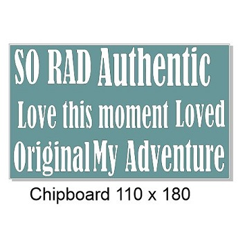 So rad authentic words,love this moment,original, 110 x 180mm  m