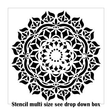 Mandals Doiley stencil multiple sizes available see drop down bo