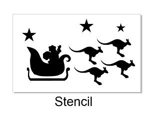 Santa Stencil  available in various sizes via drop down box min