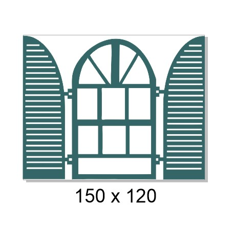 Windows and window shutters  150 x 120mm  Min buy 3