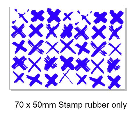 Grunge xxxx stamp rubber only