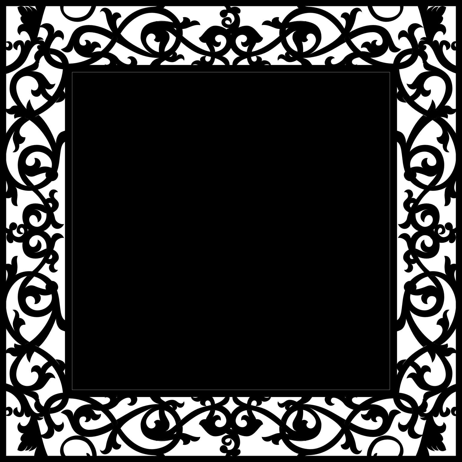 12 x 12 Wrought Iron 3 Frame sold individually