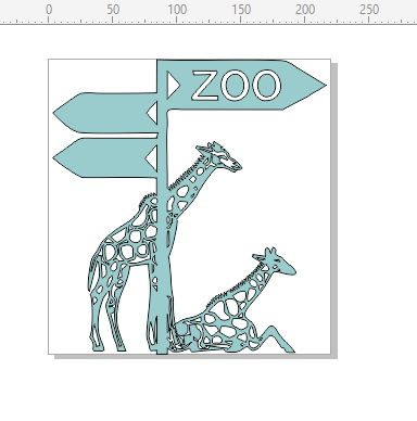 Zoo  Animals Giraffe,crocodiles,snakes  220 x 230.mm Min buy 3